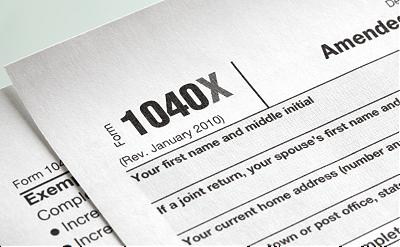 1040x Amended Tax Return image